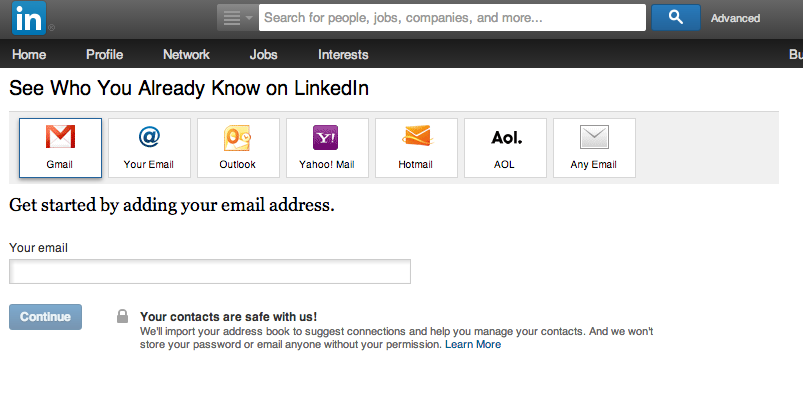 linkedin connections feature