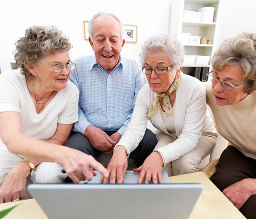 Of course, this is exactly how older folks look when they're using the computer... right?
